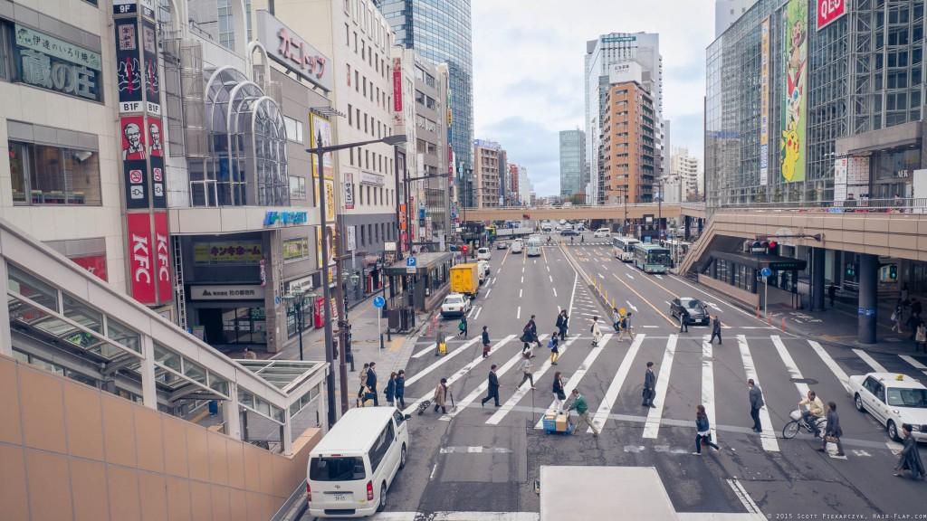 Near Sendai Station.