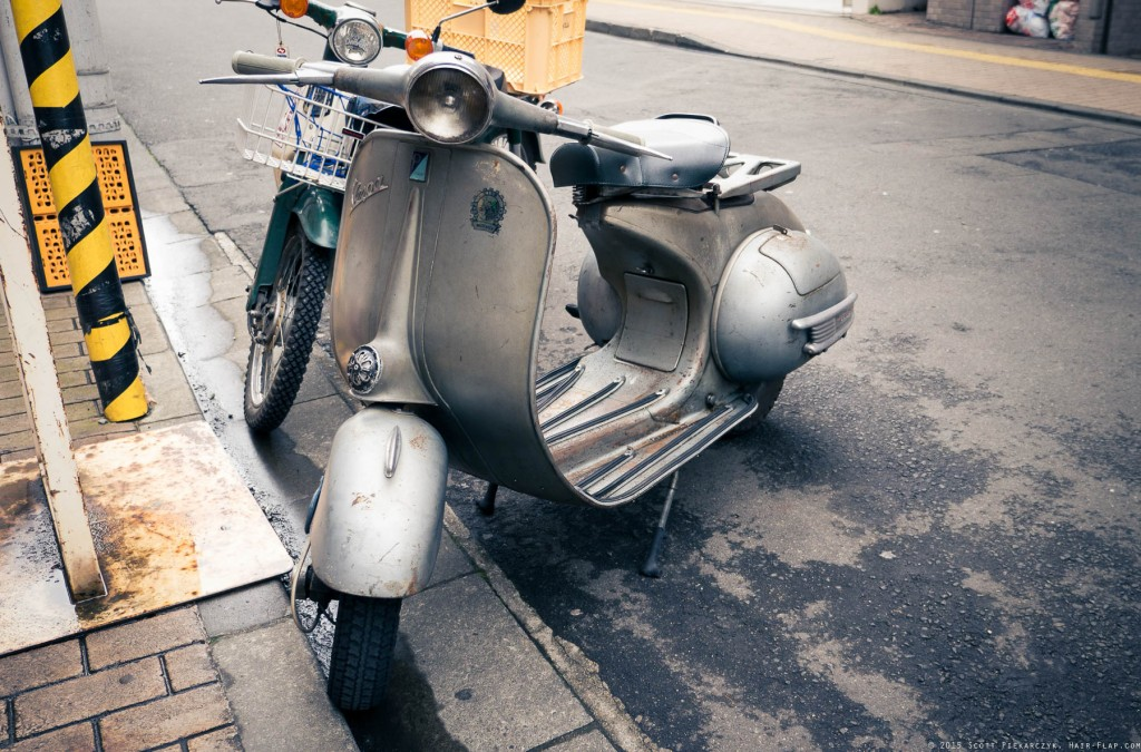 Came across this classic Vespa that's seen better days but is still gorgeous somehow.