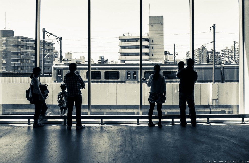 Trainspotters at the Nagamachi Ikea.