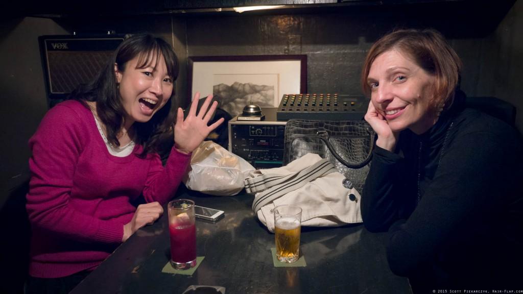 Bar Jake with Mary and Yuka.